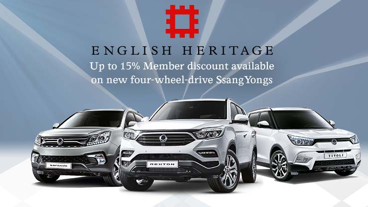 English Heritage car discount scheme - Charters SsangYong Reading