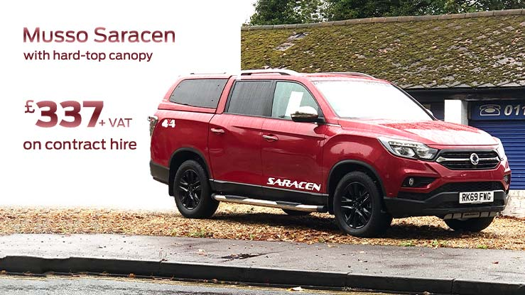 ssangyong-musso-indian-red-hard-top-canopy-contract-hire-an