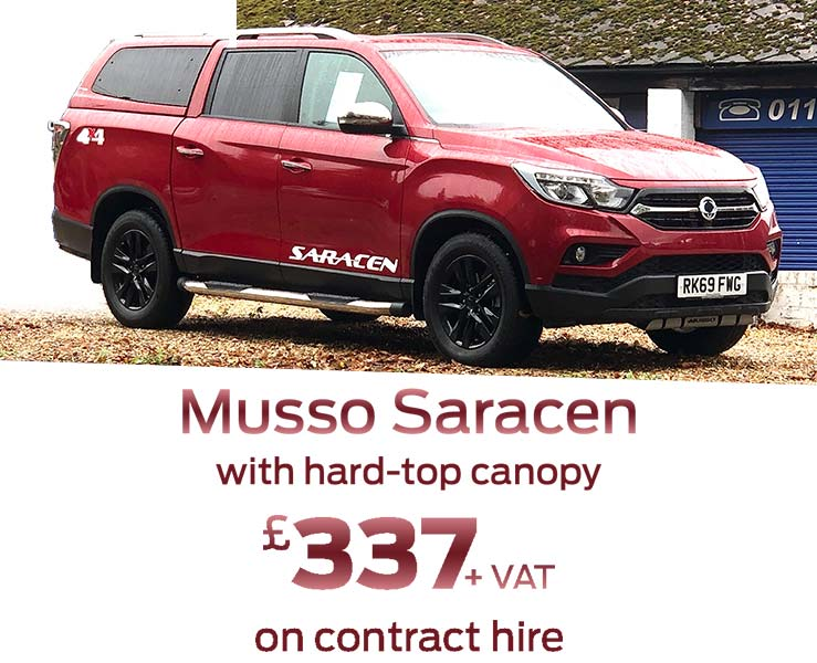 ssangyong-musso-indian-red-hard-top-canopy-contract-hire-goo