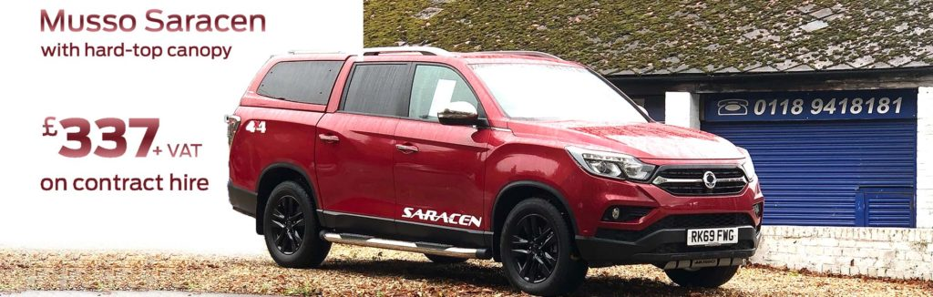 ssangyong-musso-indian-red-hard-top-canopy-contract-hire-sli