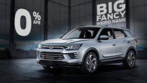 Hire Purchase | £8105 deposit | £279 per month | New Korando Ventura 1.5-litre petrol Automatic